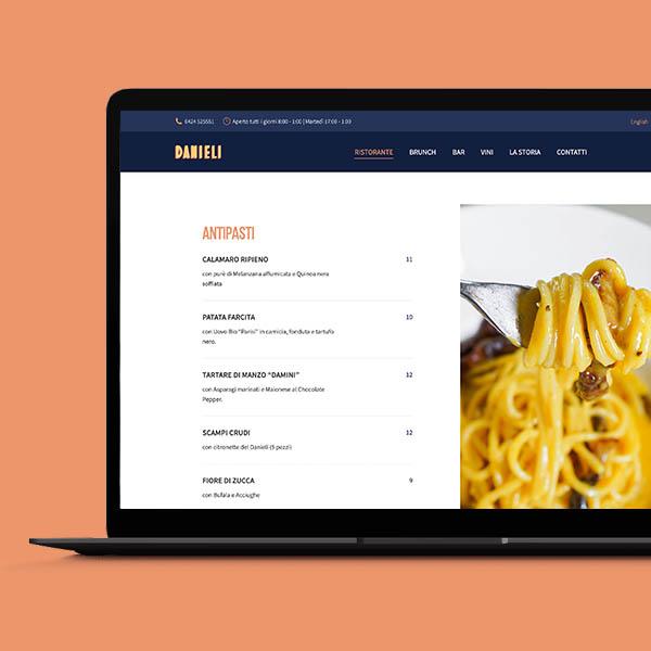 nora blend portfolio web design danieli bassano